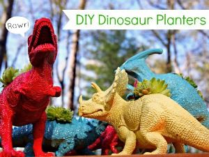 diy dino planter