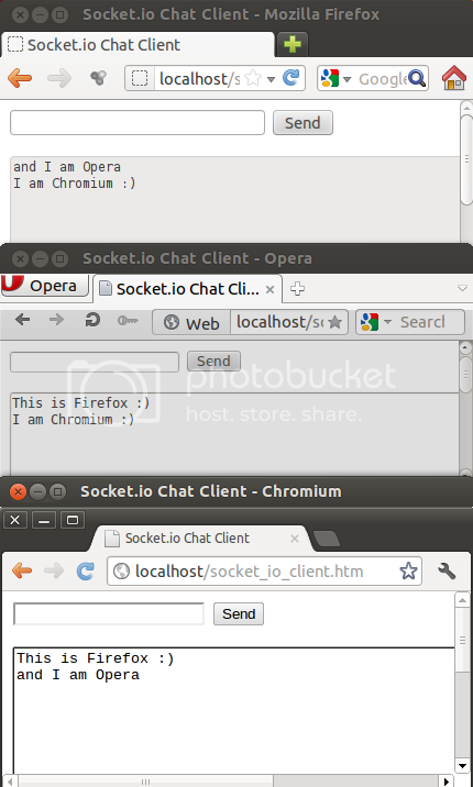 Node.js and Socket.io Chat Server